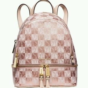 MK Rose Gold Backpack